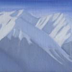 Anne van As - Mountain landscape #3 2016 20 x 50 cm olieverf op linnen € 1100,-
