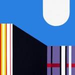Anuli Croon - Architectonische constructie III, stencil op papier,80x60cm