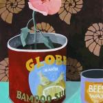 Erik Mattijssen - Globe, 2016, gouache op papier, 50 x 40 cm