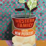 Erik Mattijssen - Potatoes - gouache op papier, 50 x 40 cm