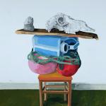 Erik Mattijssen - River beach, goauche op papier, 80 x 70 cm, 2014