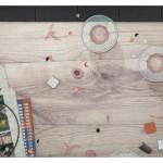 Rosa Everts - The Newspaper series 9 - 2017 - mixed media op fotoprint op papier, 35 x 50 cm