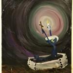 Oskar Nilsson - Light & darkness etc, olieverf op doek, 100 x 70 cm 2017, € 2.700