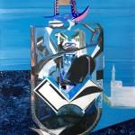 Niels Broszat - Icoon #024, 2018, 42 x 33 cm, Eitempera und Ölfarbe auf Holzkörper, €1890,-