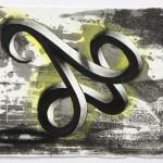 Lenneke van der Goot - Bow, 15 x 21 cm, litho-tekening, 2018
