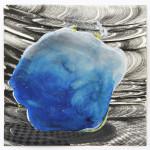 Lenneke van der Goot - Untitled (blue), 25 x 25 cm, gemengde techniek op papier, 2016