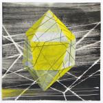 Lenneke van der Goot - Untitled (yellow), 30 x 30 cm, oa inkt, potlood en gouache op papier, 2016