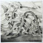 Lenneke van der Goot - Ways, 25 x 25 cm, inkt en pastel op papier, 2016